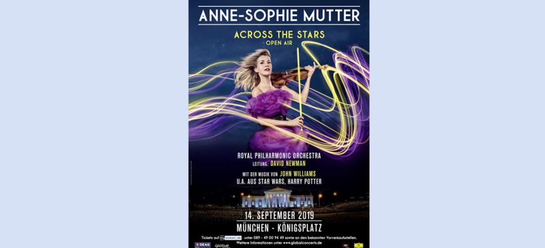 Musik fürs Kino: Stargeigerin Anne-Sophie Mutter plant großes Open Air Konzert