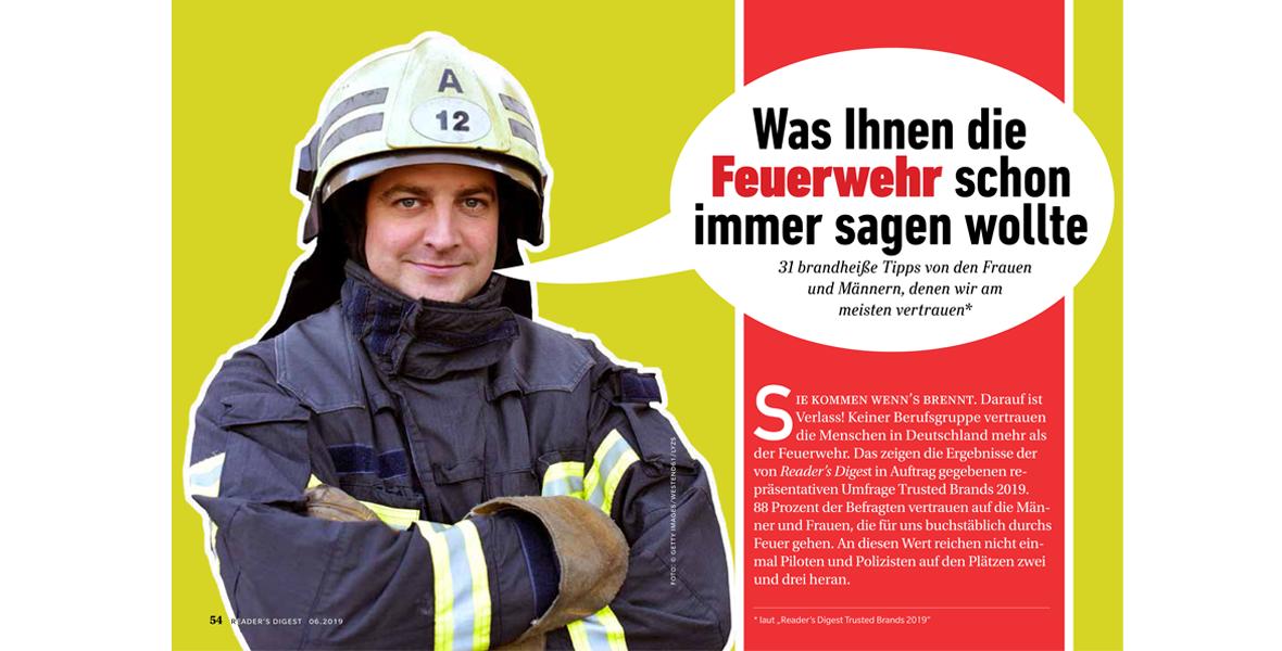 Helden des Alltags: Feuerwehr genießt höchstes Vertrauen