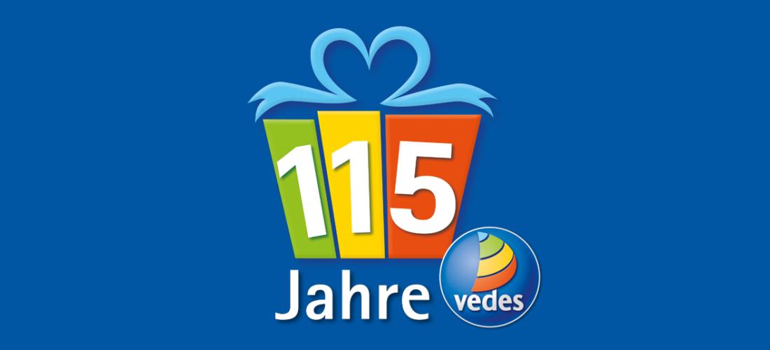 115 Jahre Vedes: <br/>Mitraten und Holz-Spielesammlung gewinnen!
