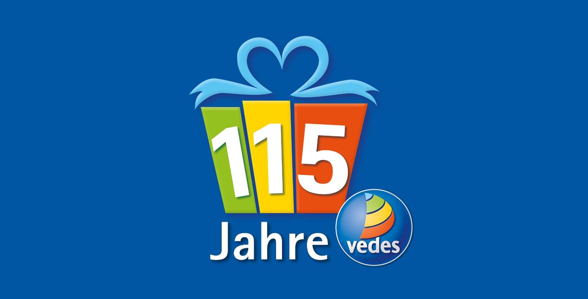 115 Jahre VEDES: <br/>Mitraten & Carrera Rennbahn gewinnen