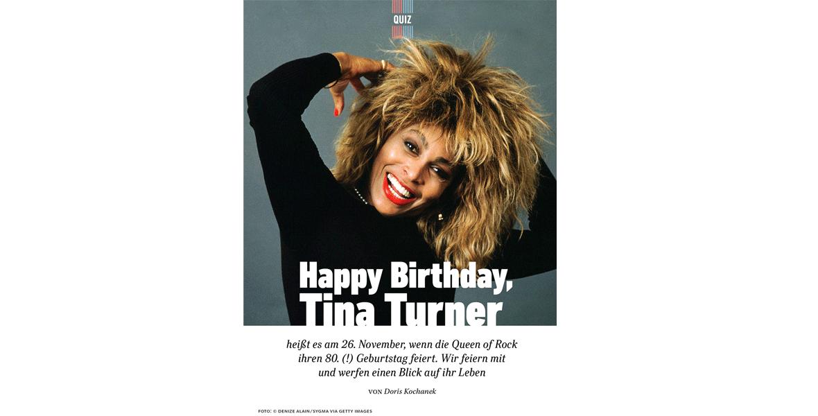 Happy Birthday! <br/>Tina Turner wird 80
